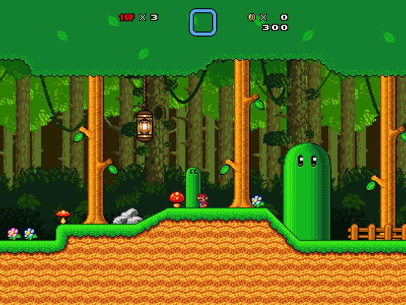 Custom Forest Tileset + Background (updated 06 04 2015